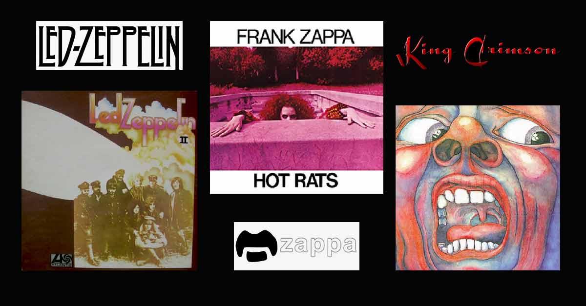 Led Zeppelin - Franc Zappa et King Crimson