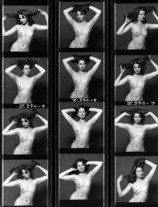 Christine Keeler au tout début des années 60
