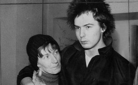 Sid Vicious and his mother