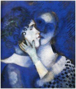 Les Amants bleus de Marc Chagall