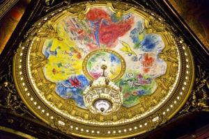 Fresque du plafond de l'opéra