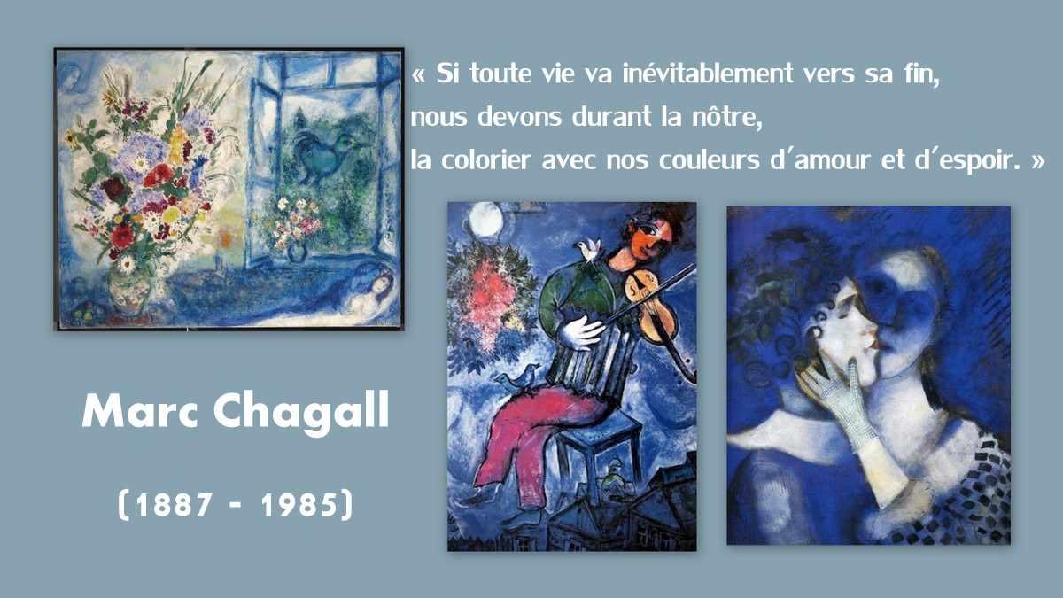 Le monde bleu de Marc Chagall