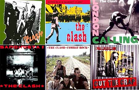 the clash - albums