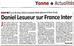 La mort de Johnn Lennon 8 décembre 1980