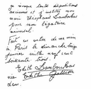 testament- édith Piaf