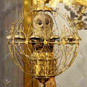 L'Ermitage - Le hibou, l'une des trois figurines mécaniques de l'horloge