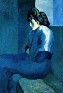 Femme assise de portrait de Picasso