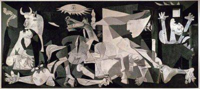 Guernica, fresque sur la guerre civile de Picasso - cinq tableaux