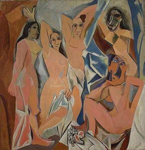 Demoiselles d'Avignon, nus féminins.
