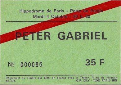 peter gabriel ticket