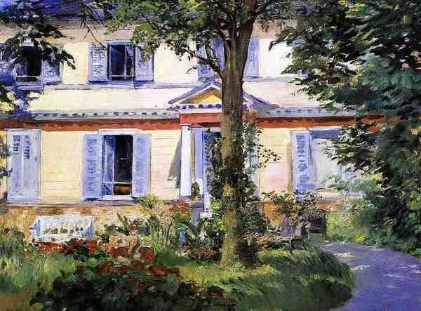 Maison de Rueil par Edouard Manet