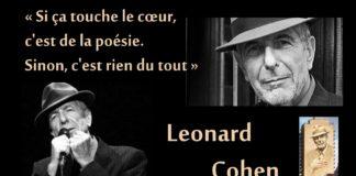 Leonard Cohen, le poète