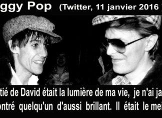 iggy pop citation mort de david bowie
