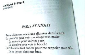 Jacques Prévert - Paris at night