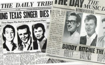 Une des journaux The Day The Music Died
