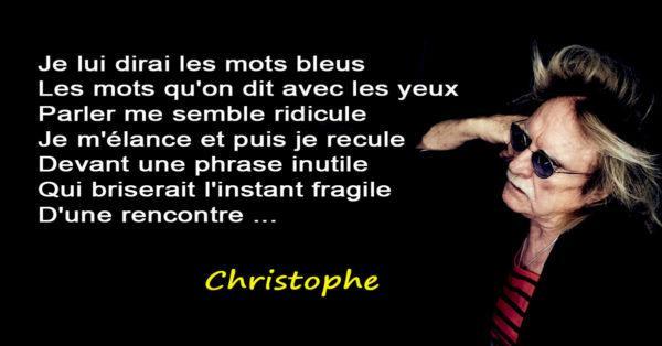 christophe chanteur - les mots bleus - mort le 16 avril 2020