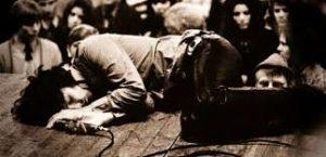 Jim Morrison on stage
